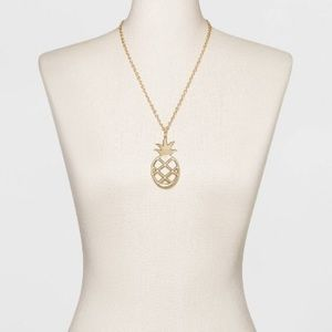 NWT Sugarfix Baublebar pineapple pendant necklace